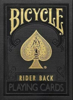 Фотография Карты Premium Bicycle Black & Gold Rider Back [=city]