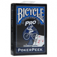 Фотография Карты Bicycle Pro Poker Peek, синие [=city]